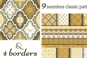 Classic 9 patterns & 4 borders
