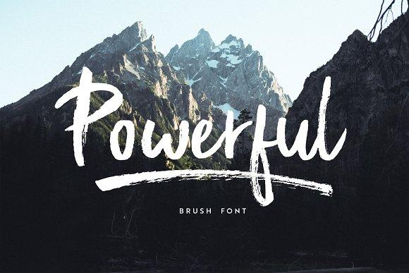 powerful brush font script fonts creative market