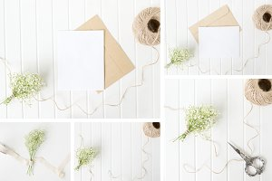 Baby's Breath Stationery Mockups