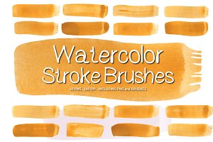 Watercolor Paint Brush Strokes Ver.1