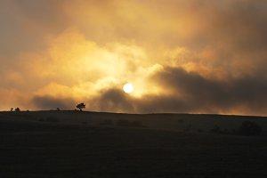 Sunset Crimea landscape