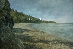 Beach view vintage style background