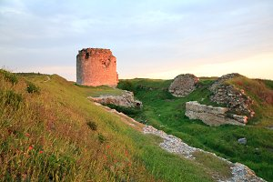 Sunset Crimean ancient fortress