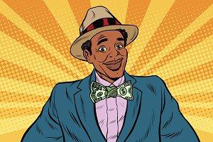 businessman with dollar tie