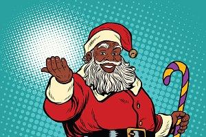 African American black Santa Claus