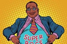 African businessman super boss