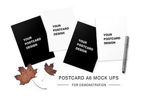 Minimalistic postcard A6 mock ups