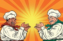 multi-ethnic chefs