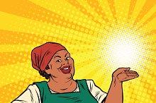 Retro woman African-American