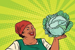 African-American woman cabbage