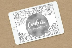 Procreate Confetti Brush Set