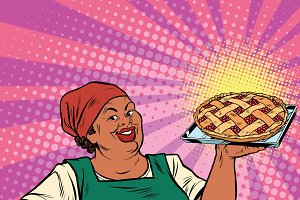 African-American berry pie