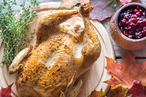 Set Of Chicken With Cranberry Sauce