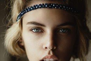 Headshot of beautiful female model