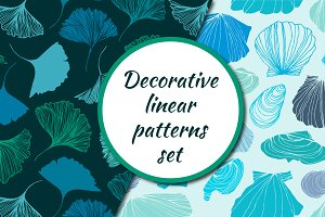Linear seamless patterns set