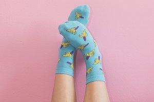 cute blue socks