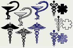 Symbol medical caduceus