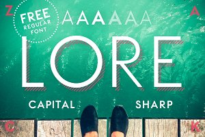 LORE - Geometric Capital Font