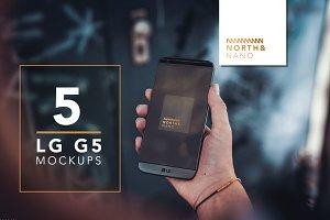 LG G5 PSD Mockups