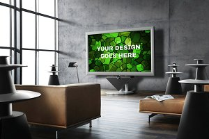 Television Display Mock-up#13