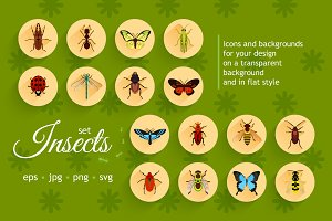 Insects Flat Set