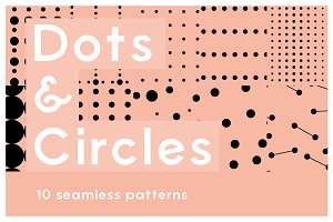 Dot & Circles - 10 Seamless Patterns