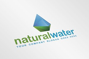 Natural/Crystal Water Droplet Logo