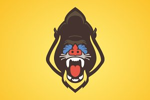 Baboon Logo - Vector