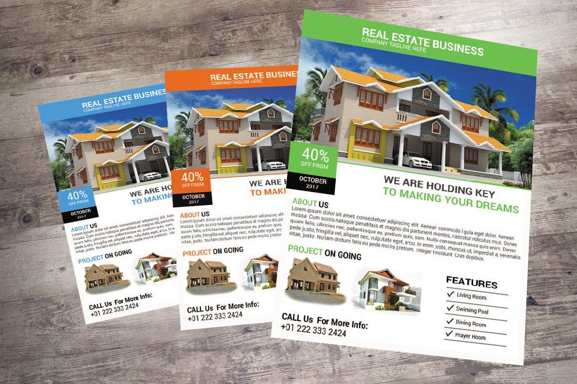 Real Estate Flyers Design Creative Photoshop Templates Creative Market
