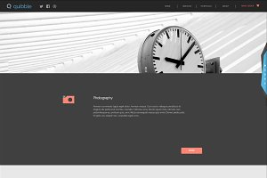 Quibble. Adobe Muse Template