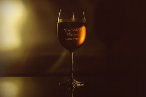 Wine Glass Mock-up#1