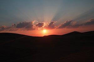 sunshine born in dubai (sunset)