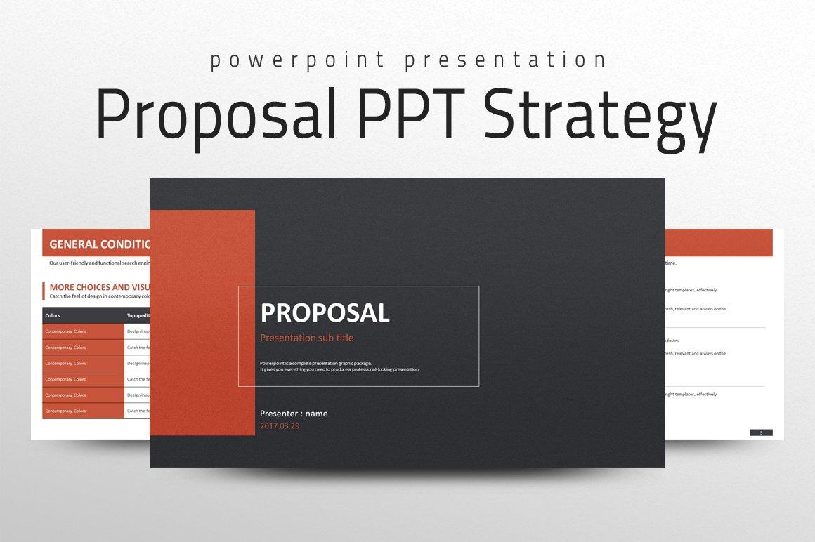 proposal ppt strategy presentation templates creative market