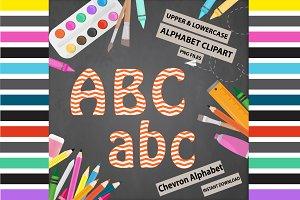 Orange Alphabet Clipart - Chevron