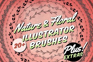 Nature & Floral Illustrator Brushes