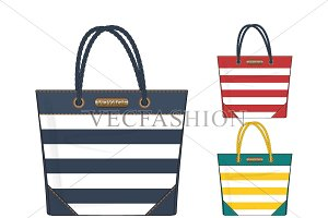 Canvas Tote Bags Vector Templates