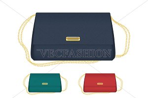 Classic Envelop Bag Vector Templates