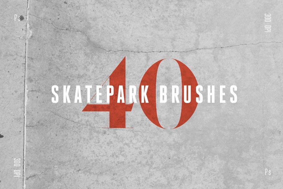 Skatepark Photoshop Brushes 40 Pack ~ Photoshop Add-Ons ~ Creative