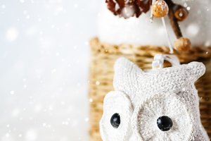 Snow Christmas decoration