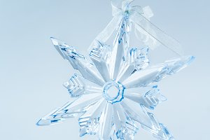 Blue crystal snowflake decoration