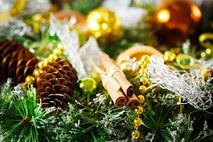Christmas decoration with fir