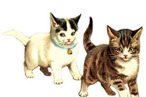 Vintage Kittens Painting