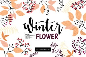 Winter & Autumn Floral Vector DIY