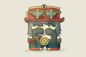 Steampunk dirigible pilot