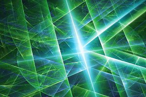 abstract green star background