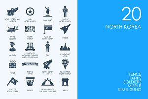 Nouth Korea icons