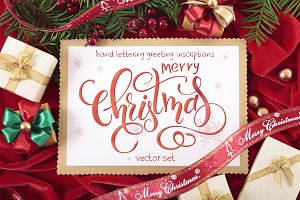 10 Christmas lettering inscriptions