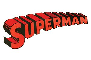Superman 3D Logo Type (Vintage 1977)