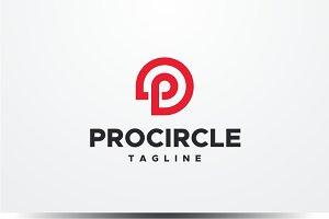 Pro Circle - Letter P Logo