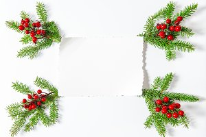 Christmas decoration with paper
